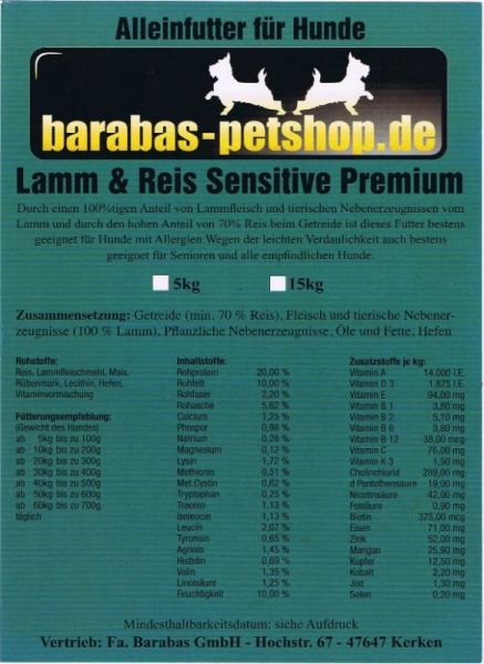 Lamm & Reis Sensitive