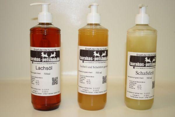 Lachsöl & Schafsfett gemischt