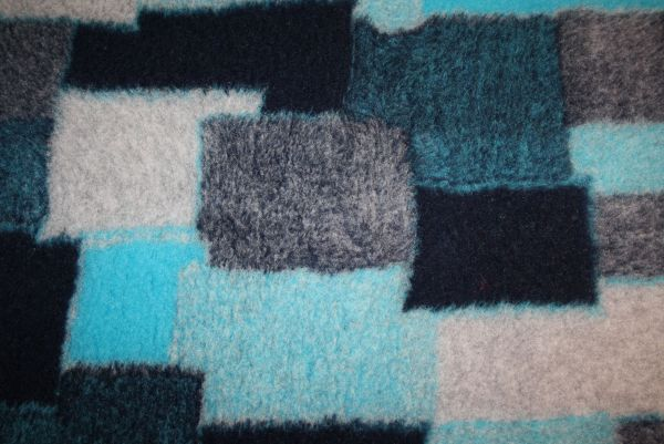 Komforttrockenbett Blau-Patchwork Antislip